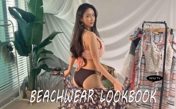 阔腿裤🌈,比基尼掩盖混搭度假look/沙滩装搭配/lookbook